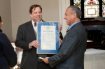 City of Hartford COO David Panagore and Mayor Segarra present an official proclamation on the arts