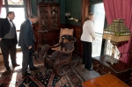 Mayor Segarra and Cathy Malloy tour the home