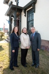 Sheryl Hack, Cathy Malloy and Mayor Segarra