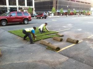 Knox Green Crew installs sod