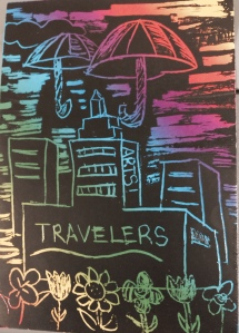 Travelers scratch art 1