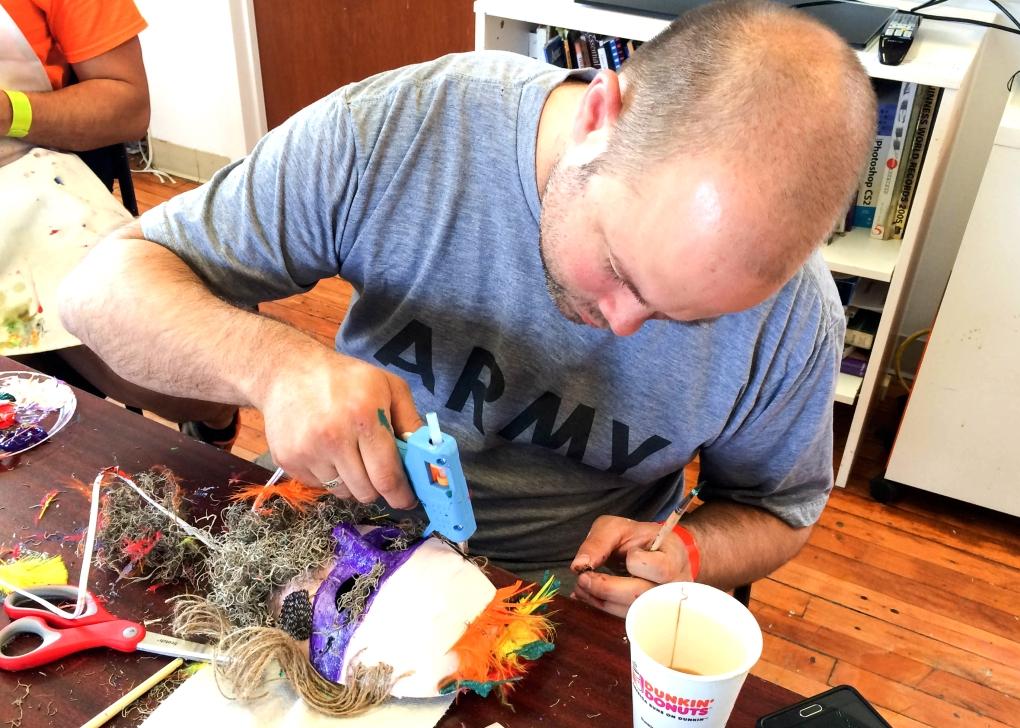 Mask-making workshop with VAF